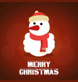 snowman with red background vector image vector image
