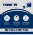 social media post for corona virus vector image vector image