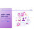 social media service modern flat design concept vector image