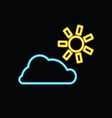 sun with cloud neon vector image