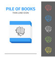 Thin lined book icon