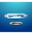 transparent guarantee label vector image