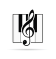violin key icon vector image vector image