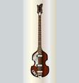 violin style bass guitar vector image vector image