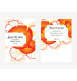 wedding invitation card with flower vector image