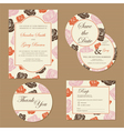 wedding set with roses vector image vector image