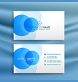 white and blue dots business card design template vector image vector image