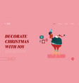 winter holidays landing page template merry vector image vector image