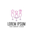 woman clothes logo design concept template vector image vector image