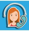 woman telephone call retro vector image