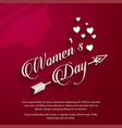 womens day with red background vector image