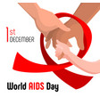 world aids day concept background cartoon style vector image