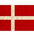 Denmark paper flag vector image