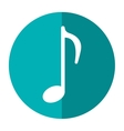 music note sound melody symbol shadow vector image