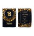18th years birthday black paper luxury