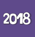 2018 sign on color of the year violet background vector image