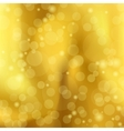 abstract a golden background with Bokeh vector image