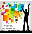 abstract square colorful background vector image vector image