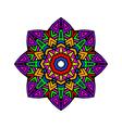 Acid color ethnic aztec mandala pr vector image vector image