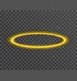 angel halo ring saint aureole icon holy ring vector image vector image