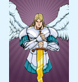 archangel michael portrait 2 vector image