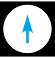 Arrow Axis Y flat blue and white colors round vector image vector image