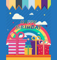 birthday-poster vector image vector image