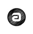 black letter a symbol vector image vector image