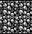 bones and skulls seamless pattern for fashion vector image vector image