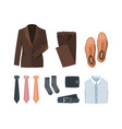 business clothes elegant man textile clothes and vector image