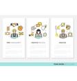 Business Team Work Brochure Template vector image