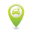 car with gas station iconmap pointer green vector image vector image