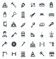 carpenter icons set vector image