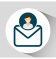 character email social media concept vector image vector image