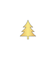 christmas tree computer symbol vector image vector image