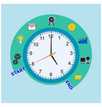 clock display business process concepts vector image vector image