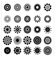 collection flower silhouettes vector image vector image