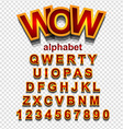 Colorful Funny Simple Font for Cartoon project vector image vector image
