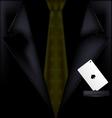 dark suit vector image vector image