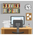 Designed modern workspace at home vector image vector image