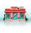 different store includes realistic coffee shop vector image vector image