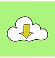 Doodle style cloud computing symbol vector image