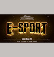 editable text style effect - e-sports text style vector image vector image