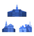 european landscape small sets with flat city vector image