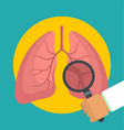 examination of lungs icon flat style vector image