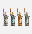 famous statue liberty symbol united states of vector image