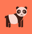 flat icon stylish background panda bear vector image