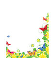 Floral butterfly border vector image
