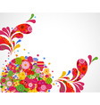 Floral ornamental background card vector image