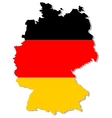 germany flag on map vector image